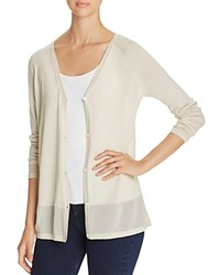 Love Scarlett Chiffon Trim Cardigan Winter White