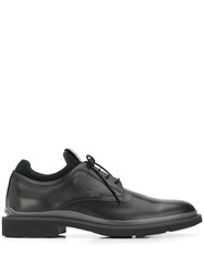 Tod's Mesh Panel Derby Shoes Black