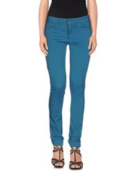Twin Set Simona Barbieri Denim Denim Trousers Women Deep Jade