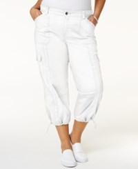 Style And Co Co. Plus Size Capri Cargo Pants Only At Macy's Bright White