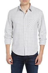 Billy Reid Kirby Slim Fit Check Sport Shirt Light Grey Natural