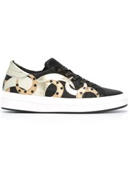 Philippe Model Studded Metallic Detailing Sneakers Black