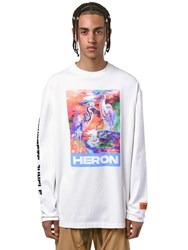 Heron Preston Print Ls Cotton Jersey T Shirt White