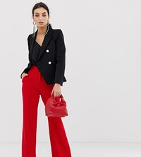 River Island Flare Trousers In Red