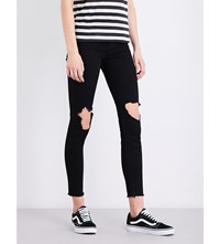 Ksubi Hi And Wasted Distressed Skinny High Rise Jeans Talk N Whack
