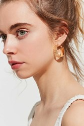 Urban Outfitters Allegra Braided Hoop Earring Gold