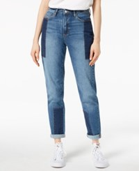 Buffalo David Bitton Patched Two Tone Girlfriend Jeans Colorblock