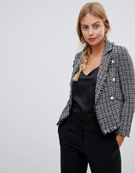 Parisian Tweed Blazer Grey