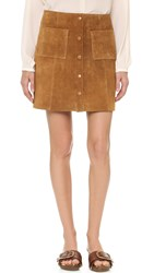 Just Female Fer Suede Skirt Tan