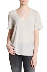 Cupcakes And Cashmere Blair V Neck Short Sleeve Tee Beige
