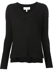 Derek Lam 10 Crosby V Neck Sweater Black