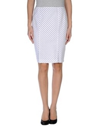 Jeans And Polo Knee Length Skirts White