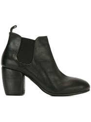 Marsell Block Mid Heel Boots Black