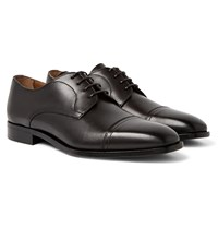 Hugo Boss Richmont Cap Toe Leather Derby Shoes Brown