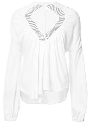Rachel Comey Gathered Front Blouse White