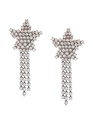 Jennifer Behr Star Fringed Earrings Metallic