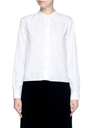 Rag And Bone 'Crop Leeds Bu' Crinkle Collarless Shirt White