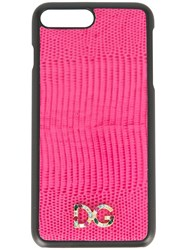 Dolce And Gabbana Logo Iphone 7 Plus Cover Pink