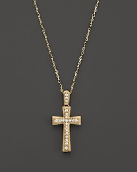 Bloomingdale's Diamond Cross Pendant Necklace In 14K Yellow Gold .25 Ct. T.W.