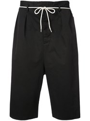 Maison Martin Margiela Drawstring Drop Crotch Shorts Black