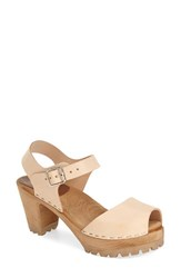 Women's Mia 'Greta' Sandal Natural Leather