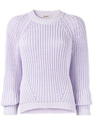 Baum Und Pferdgarten Long Sleeve Knitted Jumper Purple