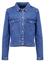Evenandodd Denim Jacket Dark Blue Denim Dark Blue Denim