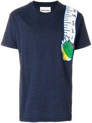 Henrik Vibskov Shoulder Tape T Shirt Blue