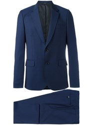 Paul Smith Two Piece Patterned Suit Blue
