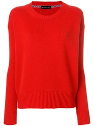 Etro Ribbed Detail Jumper Red