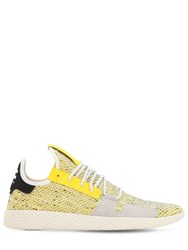Adidas By Pharrell Williams Afro Tennis Hu V2 Primeknit Sneakers Yellow