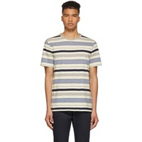 A.P.C. Off White And Blue Robert T Shirt