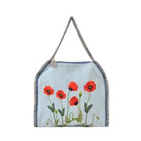 Stella Mccartney Medium Falabella Bag Embroidered With Poppies