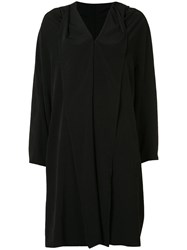 Y's Wide Lapel Coat Black
