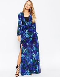 Needle And Thread Enchanted Floral Print Maxi Dress With Bell Sleeve Elixirprint