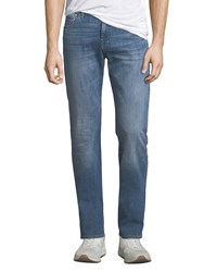 7 For All Mankind Luxe Sport Slimmy Blue Jeans Dark Blue
