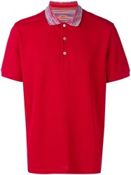 Missoni Short Sleeved Polo Shirt Red