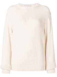 Stella Mccartney Open Knit Jumper White
