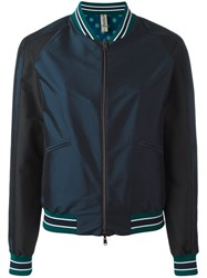 Herno Plain Bomber Jacket Blue