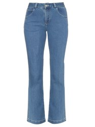See By Chloe Mid Rise Bootcut Jeans Denim