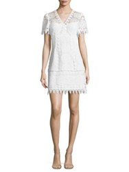 Nanette Lepore Dandelion Crochet Lace Dress White