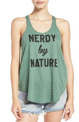 Sub Urban Riot Women's 'Nerdy By Nature' Graphic Racerback Tank
