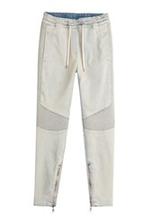 Balmain Biker Denim Sweatpants Blue