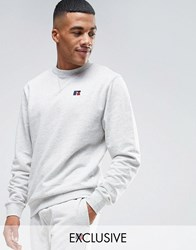 Russell Athletic Sweatshirt With Embroidered Logo Grey