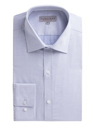 Alexandre Of England Men's Blue Jacquard Shirt Blue
