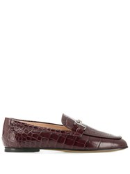 Tod's Double T Loafers Purple