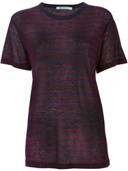 Alexander Wang T By Striped T Shirt Blue