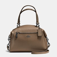 Coach Prairie Satchel In Polished Pebble Leather Dk Fatigue