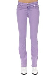 Zadig And Voltaire Flared Cotton Denim Jeans Lilac
