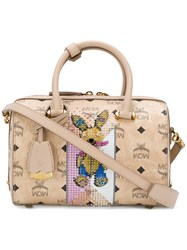 Mcm Rabbit Tote Nude And Neutrals
